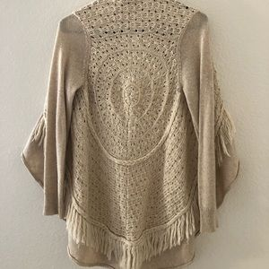 Knitted and Knotted crochet sweater